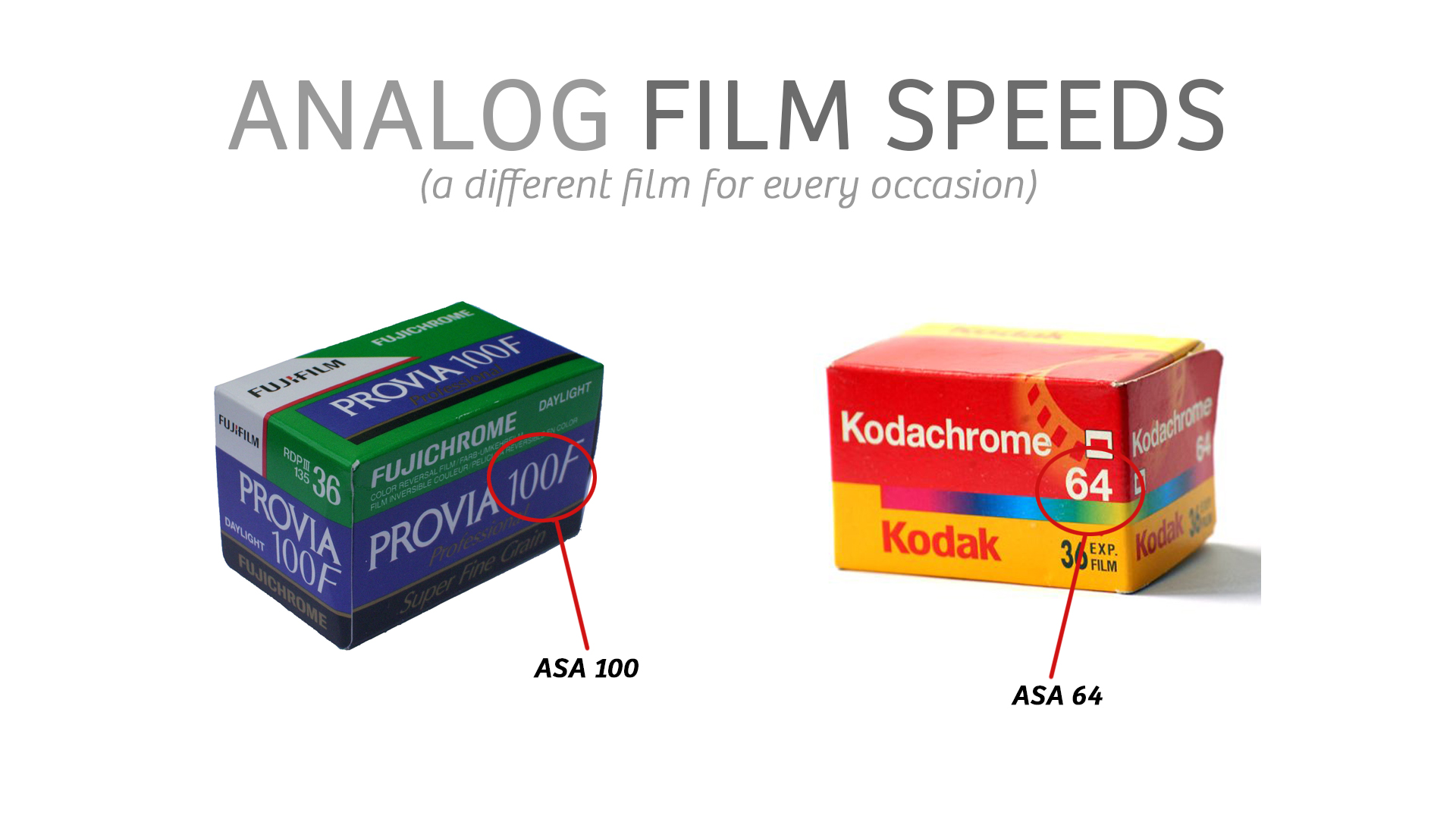 Analog Film Speeds